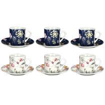 Jogo de xícaras para café em porcelana Dynasty Secret Gate 90ml 6 peças -