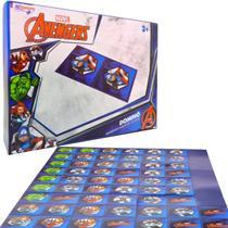 Jogo Dominó Avangers Vingadores Brinquedo Educativo 28 Peças - Marvel