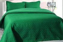 Jogo Edredom Decore Ultrasonic Tinto Green - Kacyumara
