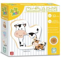 Jogo Educativo Pedagógico Mamãe e Bebê 12 peças Nig Brinquedos -