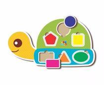 Jogo Encaixe as Figuras Geométricas na Tartaruga - Babebi -