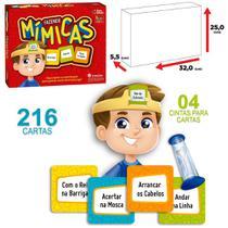 Jogo fazendo mimicas com 216 cartas + 1 ampulheta e 4 cintas na caixa - Pais E Filhos