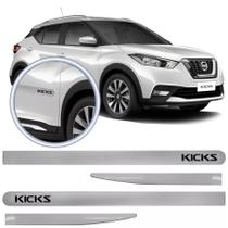 Jogo Friso Flash Lateral Slim Nissan Kicks 16 Branco Diamond - Tury