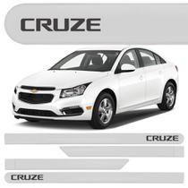 Jogo Friso Lateral Chevrolet Cruze Hatch Sedan Branco Summit - KL STORE