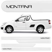 Jogo Friso Lateral Chevrolet Montana Branco Summit - Kl store