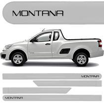 Jogo Friso Lateral Chevrolet Montana Prata Switchblade - Kl store