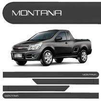 Jogo Friso Lateral Chevrolet Montana Preto Global - Kl store