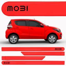 Jogo Friso Lateral Fiat Mobi Vermelho Alpine - Kl Store