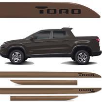 Jogo Friso Lateral Fiat Toro Marrom Horizon - Kl store