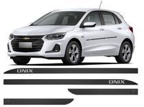Jogo Friso Lateral GM Onix Modelo Borrachão - KL STORE