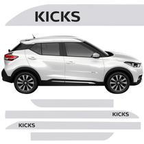 Jogo Friso Lateral Nissan Kicks Branco Diamond - Kl store