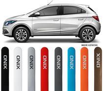 Jogo Friso Lateral Pintado Gm Chevrolet Onix 2012 2013 2014 2015 2016 2017 2018 2019 - Cor Original - Flash / SeanCar