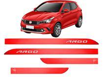 Jogo Friso Lateral Porta Fiat Argo Vermelho Alpine - Kl Store