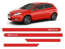 Jogo friso Lateral Porta Fiat Bravo Vermelho Alpine - Kl Store
