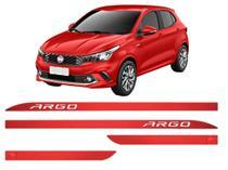 Jogo Friso Lateral Porta Slim Fiat Argo Vermelho Alpine - Kl Store