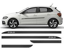 Jogo Friso Lateral Porta VW Polo Modelo Borrachão - Kl Store