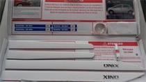 Jogo Frisos Porta Branco Original Gm Cod.ref. Onix 98594053 -