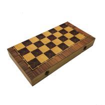 Jogo gamão/ dama com caixa de madeira - +Az Design