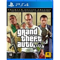 Jogo GTA V Premium Online Edition - PS4 - Take two