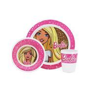 Jogo Infantil Prato, Tigela E Copo Melamine Barbie Yangzi -
