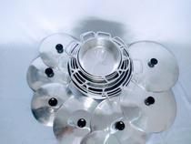 Jogo kit 08 Panelas de Aluminio Batido Tampa Grossa - Dayser
