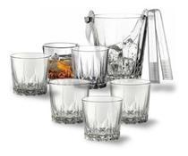 Jogo Kit 6 Copos De Vidro Resistente Para Whisky Drink Doses 300ml - Gaka