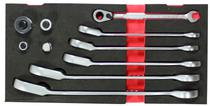 Jogo/kit chave catraca combinada com ângulo + adaptadores - force -