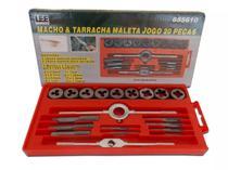 Jogo Kit Macho E Tarraxa Para Fazer Rosca + Maleta 20 Pecas - Leetols