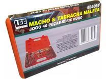 Jogo Kit Macho E Tarraxa Para Fazer Rosca + Maleta 40 Peças - Leetools