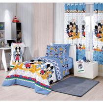 Jogo Lençol Santista Infantil 3 Peças Mickey Happy -