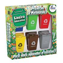 Jogo Lixeira Educativa Fenix Brinquedos LP-01 Reciclagem -