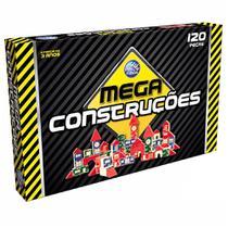 Jogo Mega Construções - 120 Peças - Pais E Filhos -
