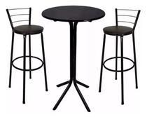 Jogo mesa bistro + 2 banqueta alta - Só Chair
