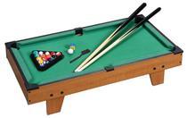 Jogo Mesa Mini Bilhar Sinuca Snooker 69 X 36 X 19cm Completo - HORIZONTE