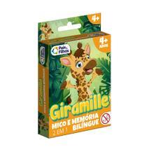 Jogo Mico e Memória 2 em 1 Bilíngue Giramille- Pais e Filhos -