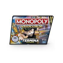 Jogo Monopoly Speed E7033 Jogo de Tabuleiro Com Cronômetro - Hasbro