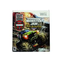Jogo Monster Jam Path of Destruction com volante para Wii - Activision