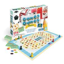 Jogo O Que É O Que ÉJogo Tabuleiro Educativo Infantil 7 Anos O Que É O Que É Até 6 Jogadores Cartas Charadas Dado Nig -