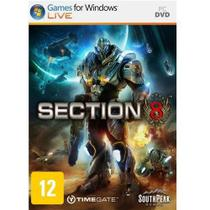 Jogo p/ PC Section 8 DVD Original Mídia Física - Southpeak games