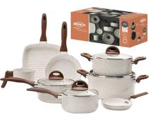 Jogo panela 8pçs ceramic life smart plus vanilla 4791 brinox -