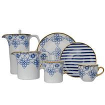 Jogo para Chá Lusitana 21 pcs Porcelana Oxford -
