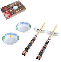 Jogo para Comida Japonesa Oriental 6 Peças Decorada - Hauskraft