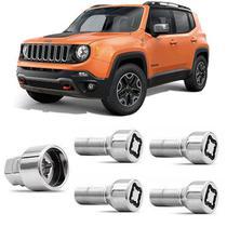 Jogo Parafuso Antifurto Roda Segredo Trava Jeep Renegade - Rodafuso