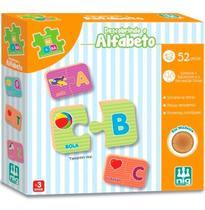 Jogo Pedagógico Descobrindo O Alfabeto 52 Pç Nig Madeira -