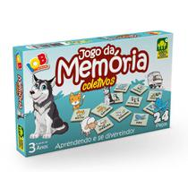 Jogo Pedagógico em Madeira 24 Peças Memória Coletivos IOB -