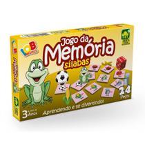 Jogo Pedagógico em Madeira 24 Peças Memória Sílabas IOB -