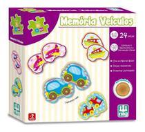Jogo Pedagógico Memória Veículos Infantil Bebe Madeira - Nig -