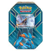 Jogo Pokémon - Deck Lata Pokémon EX - Hoenn Power - Swampert - Copag -