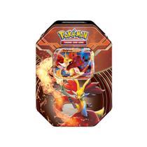 Jogo Pokémon - Deck Lata Pokémon XY 3 - Kalos Power - Delphox-EX - Copag -