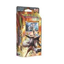Jogo Pokemon SL3 Starter DECK Sombras Ardentes Lycanroc Copag 97458 -
